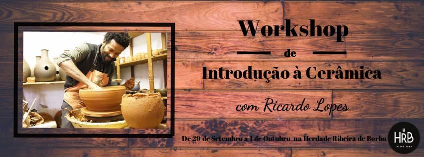 Workshop de introdução à cerâmica